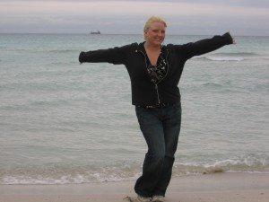 Noelle at the ocean