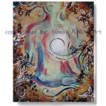 clarity yoga artwork lotus pose noelle rollins art