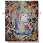 clarity yoga artwork lotus pose noelle rollins art