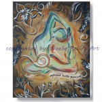 infused with passion sacral chakra king pigeon pose soulful yoga artwork by noelle rollins art