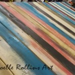 Oversized Pallet Table for Noelle Rollins Art Studio and Classroom