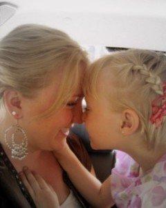 Noelle and Skylar nose kisses