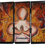 namaste soulful yoga artwork by noelle rollins art