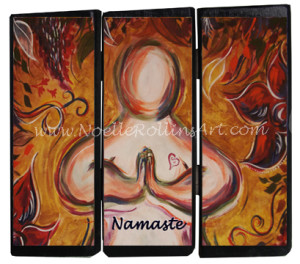 namaste soulful yoga artwork by noelle rollins art