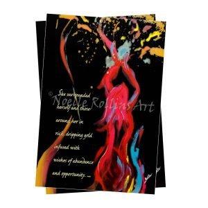 Artwork to support prosperity and abundance Noelle Rollins Art