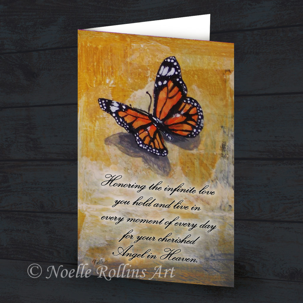 Butterfly card to honor baby child angel in heaven