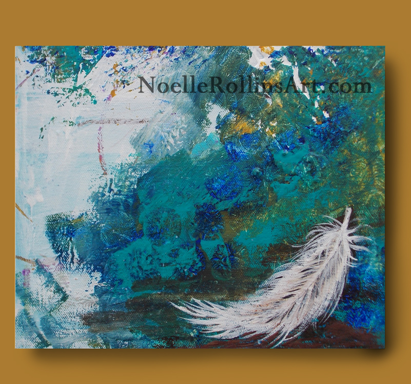 canvas wall art print feather