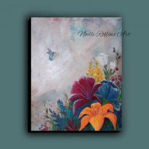 hummingbird art remembrance memorial art sacred hellos noelle rollins art