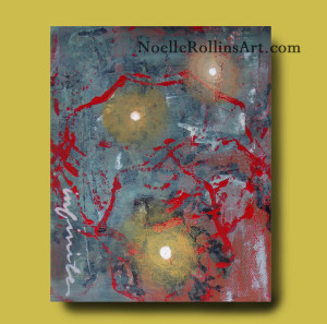 Infinite art featuring energy and orbs sacred hellos artwork Noelle Rollins Art