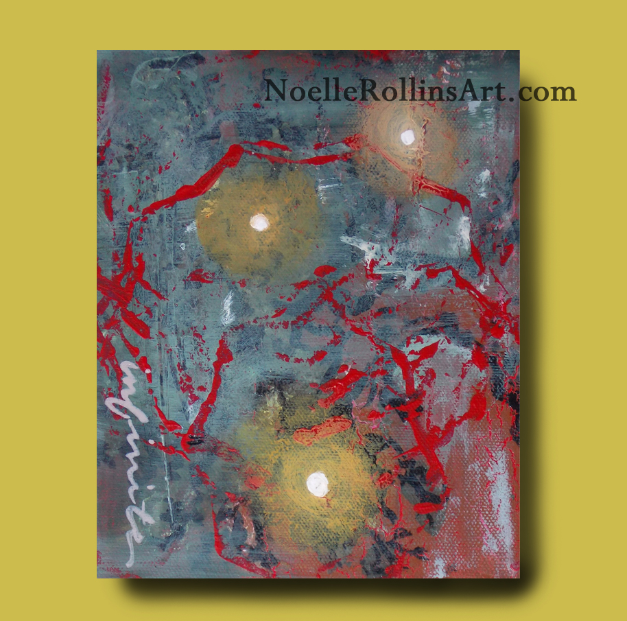 original art with orbs Noelle Rollins Art