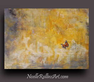 Cheerful Visitor monarch butterfly painting sacred hellos artwork Noelle Rollins Art memorial