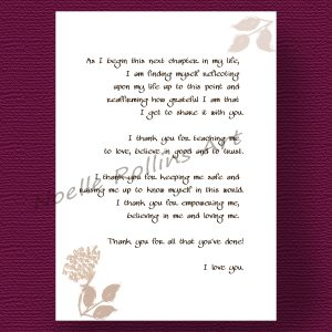 Wedding Day Letter To Bride.How To Thank A Future In Law For Raising The Love Of Your