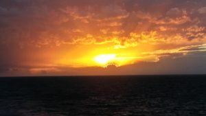 Sunset glowing
