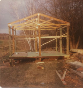 bunkhouse being built