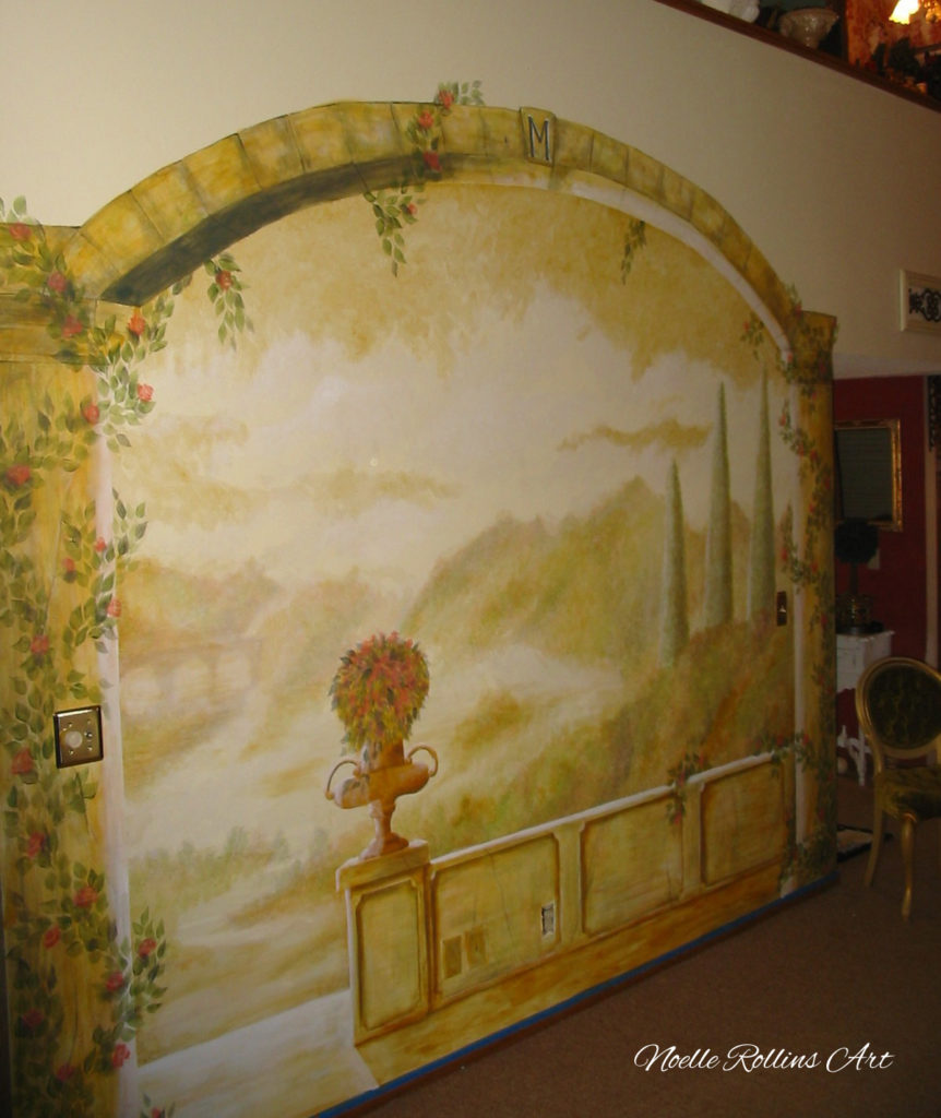 italian countryside mural