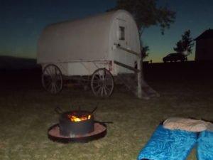 Sleeping under the stars Ingalls homestead De Smet