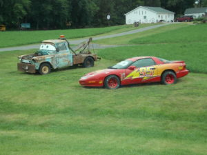 cars movie scene real life size cars in Iowa