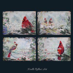 cardinal art with bible verses