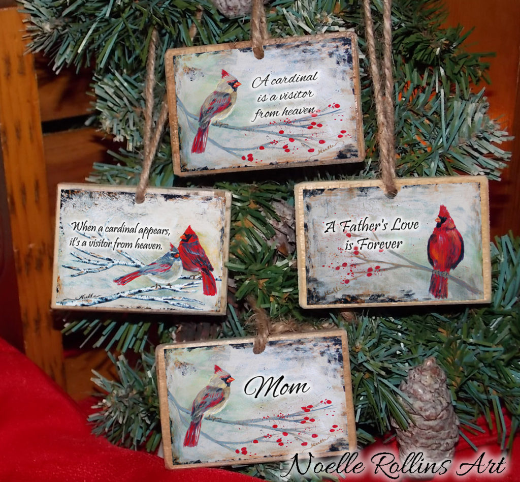 cardinal customized ornaments