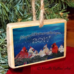 2017 written in the stars ornament cardinals