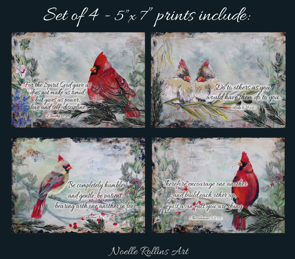postcard pack cardinal prints bible verses of love hope