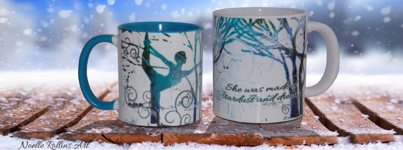 Inspirational gift mugs by Noelle Rollins Art