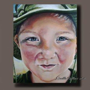 boy portrait closeup artwork