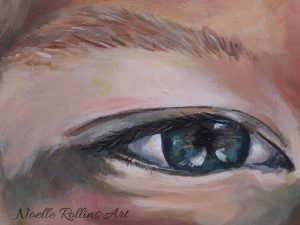 eye artwork closeup