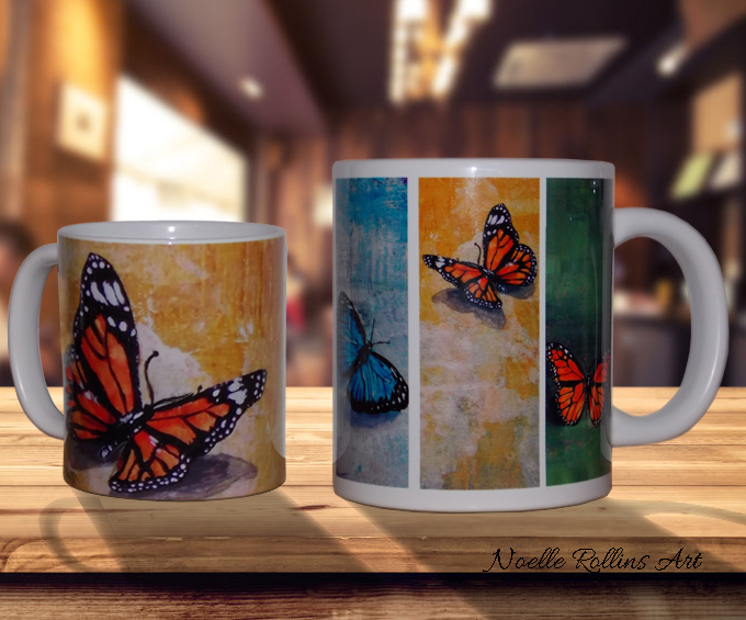 mug with butterfly from Noelle Rollins Art