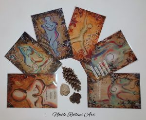 yoga art gift set from Noelle Rollins Art