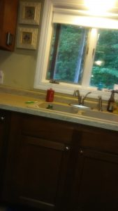 kitchen makeover composite sink