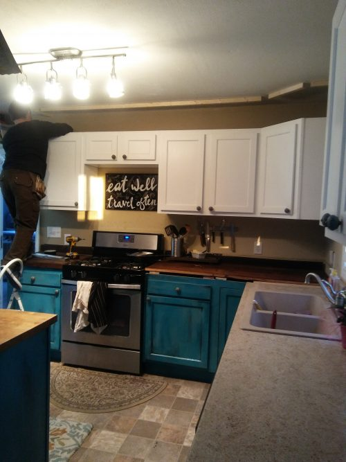 expanding kitchen cabinets above