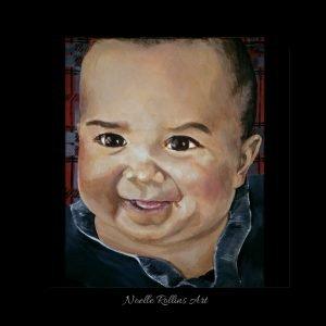 baby portrait by Noelle Rollins Art