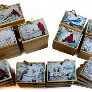 set of 36 bird ornaments for wholesale
