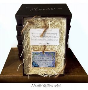 Blue butterfly remembrance ornament boxed gift set