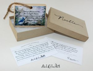 Blue Jay boxed remembrance ornament