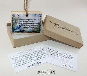 Blue jay remembrance boxed ornament