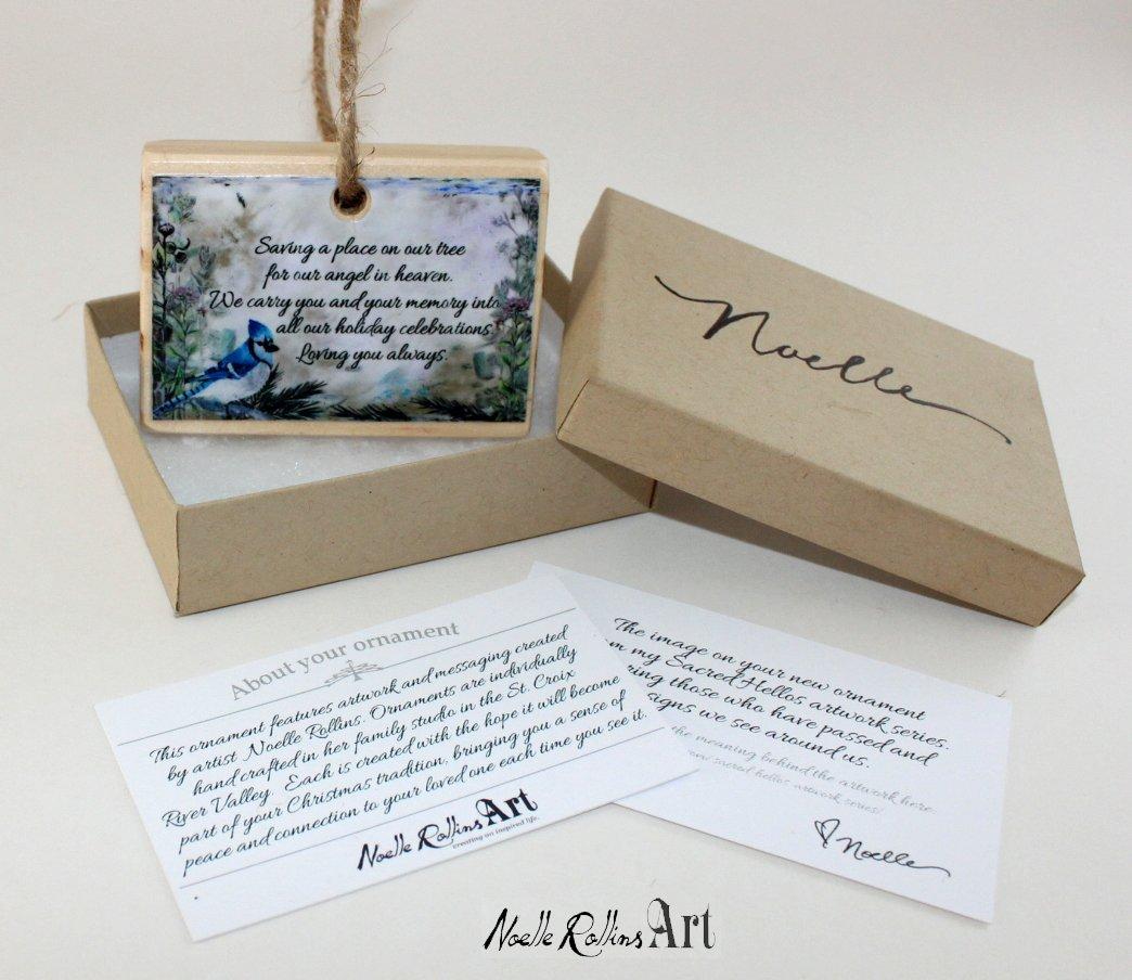 Blue Jay Remembrance Ornament Noellerollinsartcom