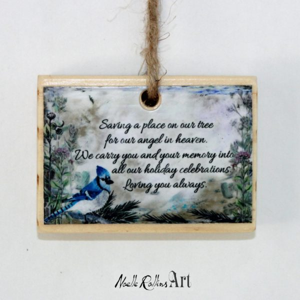 blue jay over florals and wildflower background