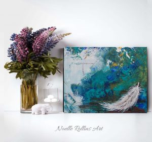 feather canvas wall art