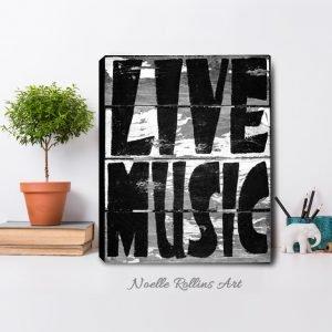 Music themed art