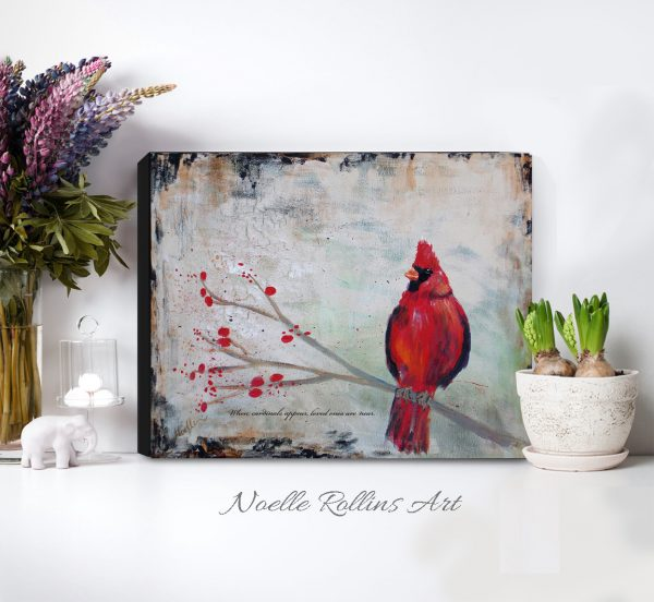 cardinal near classic canvas