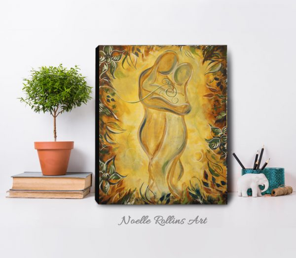 romantic couple canvas print