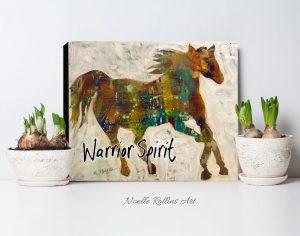 hore warrior spirit bold wall art print