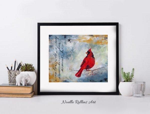 cardinal messenger matted print