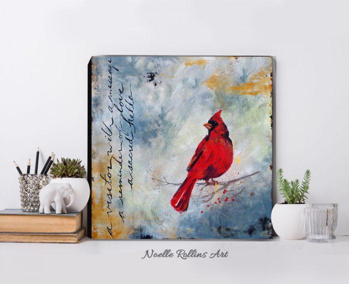 cardinal messenger print