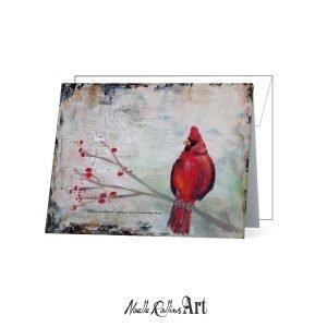 cardinal visitor remembrance card