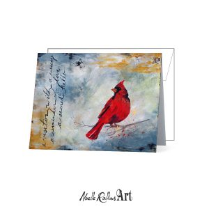 cardinal remembrance card