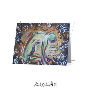 camel pose soulful yoga notecard