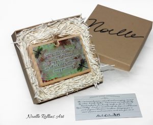Boxed dragonfly ornament
